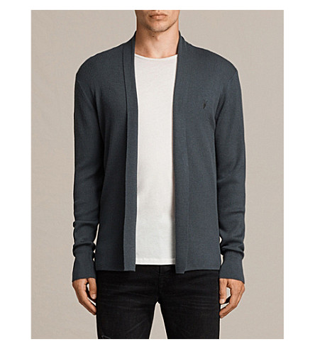 ALLSAINTS Mode open-front merino-wool cardigan (Flint+green