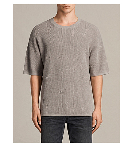 ALLSAINTS Forram cotton-knitted jumper (Putty+grey+mar