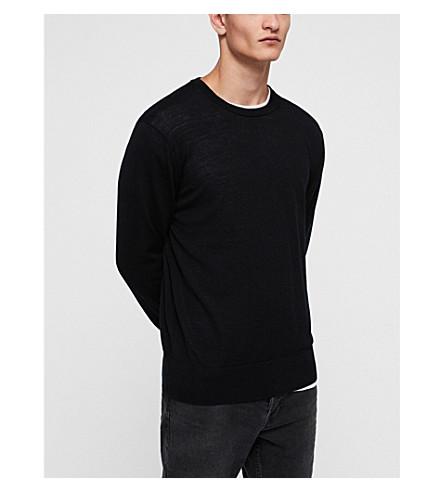 ALLSAINTS Lang crewneck merino wool jumper (Black