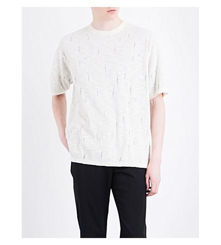 ALLSAINTS Emms cotton-blend T-shirt (Ecru+white