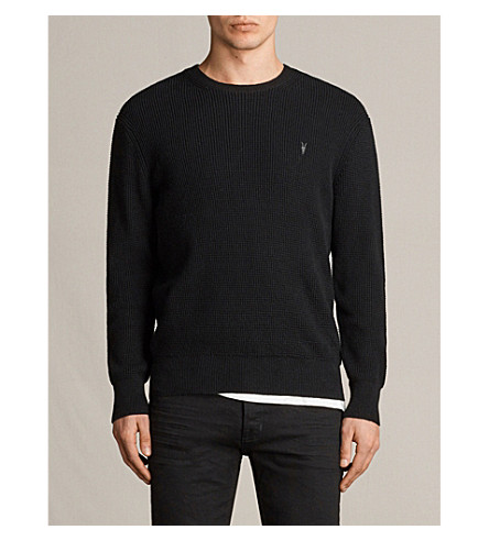 ALLSAINTS Mert crewneck knitted jumper (Black