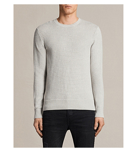 ALLSAINTS Ettrick cotton jumper (Light+grey+mar