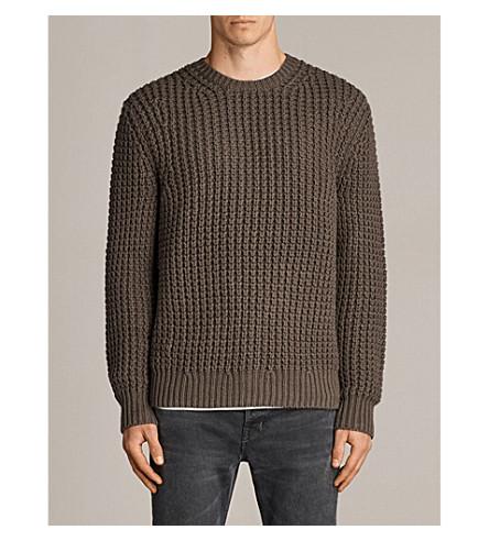ALLSAINTS Ren crewneck knitted jumper (Battle+brown