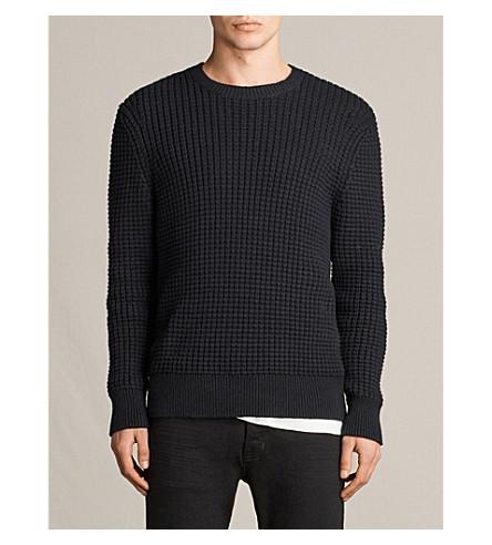 ALLSAINTS Kee crewneck waffle-knit jumper (Black