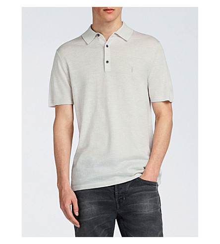 ALLSAINTS Mode wool polo shirt (Chalk+white