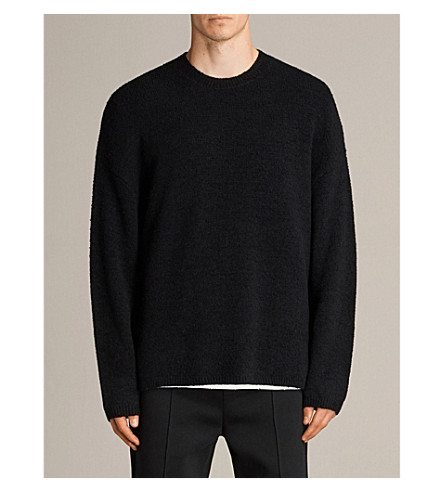 ALLSAINTS Arinn cotton and wool-blend jumper (Black