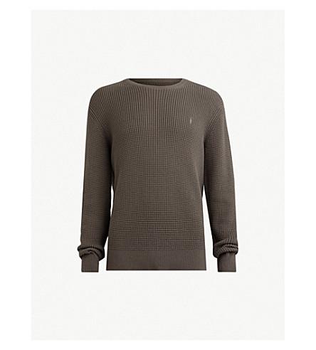 ALLSAINTS Wells waffle-knit cotton sweater (Core grey marl