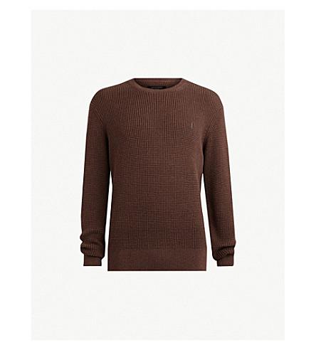 ALLSAINTS Wells waffle-knit cotton sweater (Sulphur brown