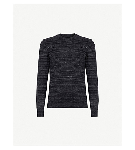 ALLSAINTS Marlo cotton-blend marled sweater (Ink navy marl