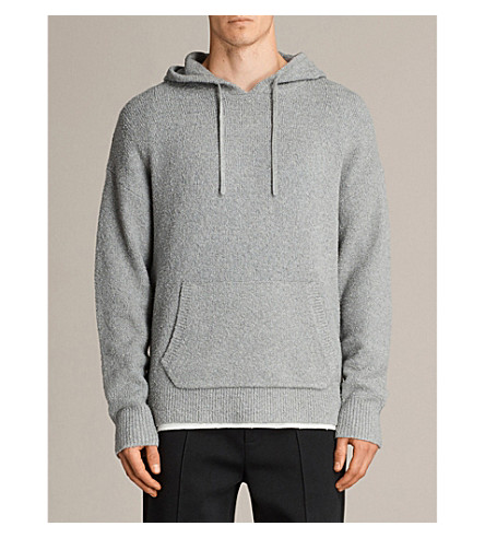ALLSAINTS Arinn cotton-blend hoody (Grey+marl