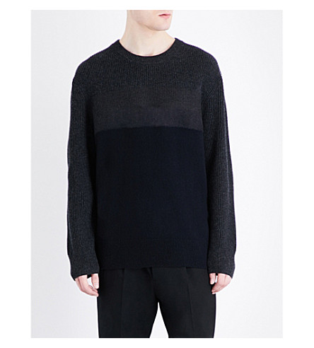 ALLSAINTS Kelm knitted jumper (Inknavy/cindbl