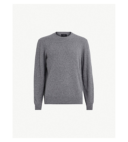 ALLSAINTS Hyde cashmere sweater (Charcoal marl
