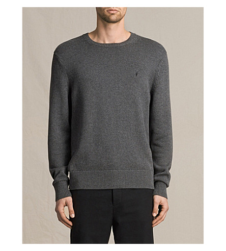 ALLSAINTS Kai regular-fit knitted sweater (Charcoal+marl