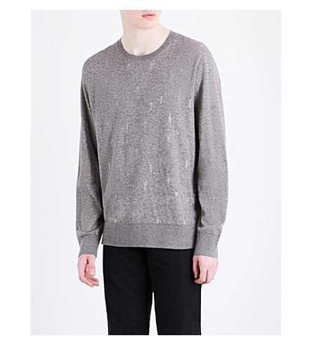 ALLSAINTS Emil knitted cotton-blend jumper (Military