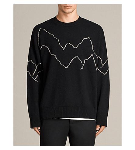 ALLSAINTS Mount wool-blend jumper (Black