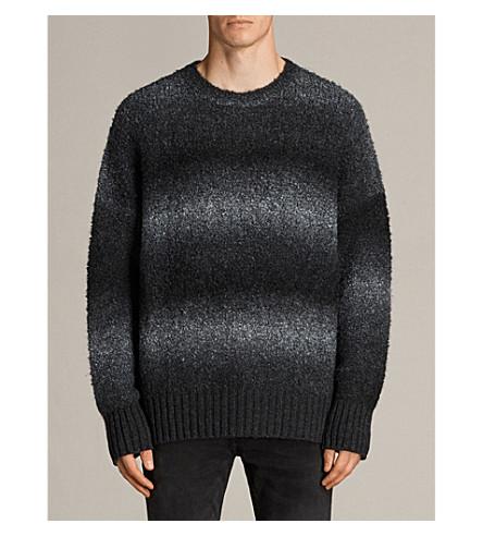 ALLSAINTS Ikarus bouclé-yarn jumper (Cinder+black+m