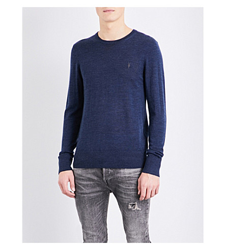 ALLSAINTS Mode merino wool jumper (Baltic+blue+ma