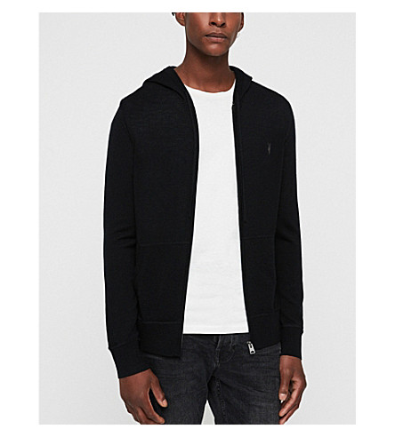 ALLSAINTS Mode merino wool hoody (Black