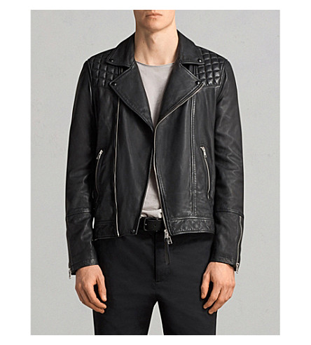 ALLSAINTS Taro leather biker jacket (Black