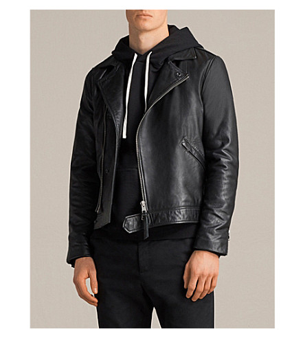 ALLSAINTS Alderson leather jacket (Black