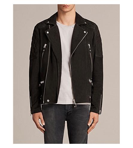 ALLSAINTS Kitsir suede biker jacket (Washed+black