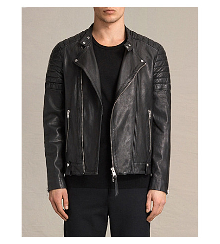 ALLSAINTS Jasper leather biker jacket (Black