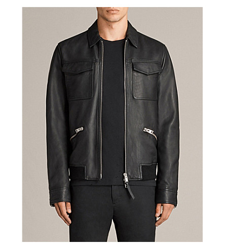 ALLSAINTS Hester leather jacket (Black
