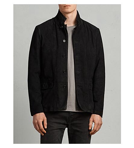 ALLSAINTS Nolan suede jacket (Black/charcoal