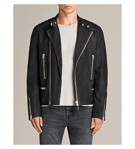 ALLSAINTS Reimer leather jacket (Black
