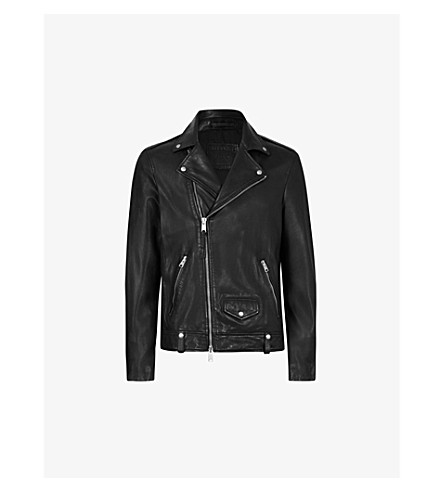 ALLSAINTS Milo leather biker jacket (Black