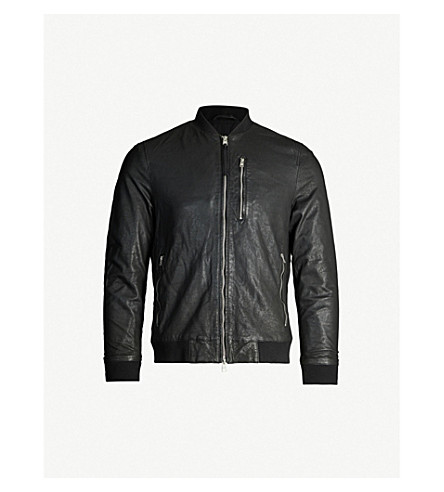 ALLSAINTS Kino leather bomber jacket (Black