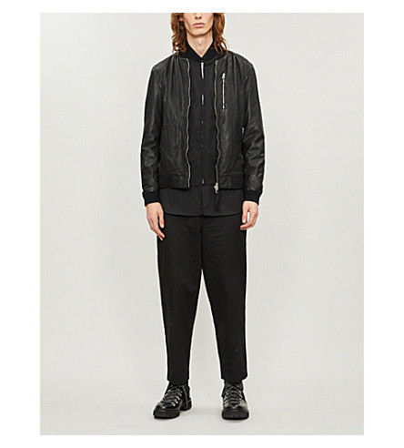 ALLSAINTS Kino leather bomber jacket (Black
