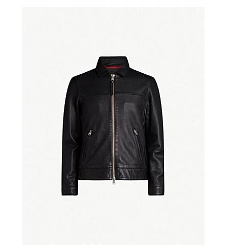 ALLSAINTS Hayne zip-up leather jacket (Black