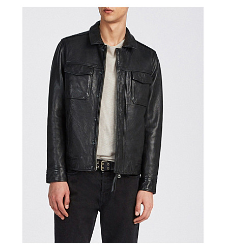 ALLSAINTS Forum leather jacket (Black