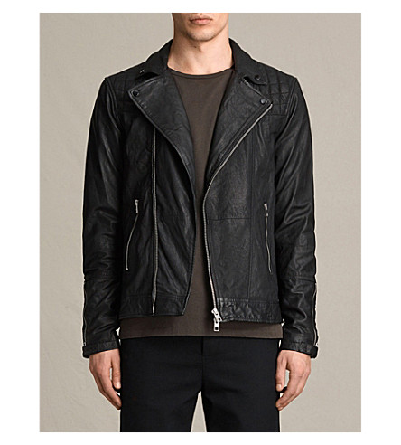 ALLSAINTS Kushiro leather biker jacket (Black