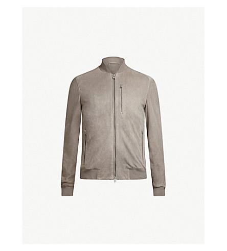 ALLSAINTS Kemble suede bomber jacket (Ash+grey