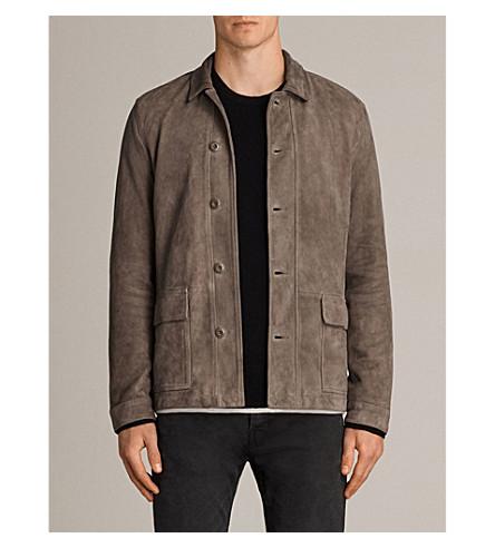 ALLSAINTS Satter suede jacket (Mink+grey