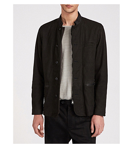 ALLSAINTS Headen double-layered leather blazer (Black