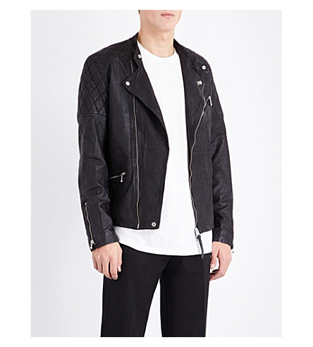 ALLSAINTS Den leather biker jacket (Black