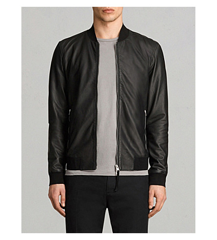 ALLSAINTS Mower leather bomber jacket (Black