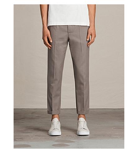 ALLSAINTS Tallis pantalones caqui Soft de con lana cónica gre mezcla rrpCnxwqvB