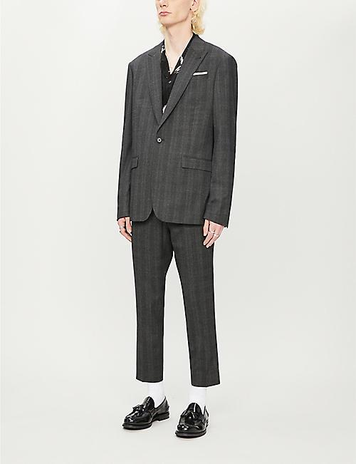 ALLSAINTS 福克斯利格纹九分款常规版型编织裤子