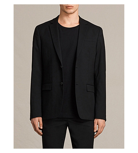 ALLSAINTS Gale regular-fit stretch-wool blazer (Black