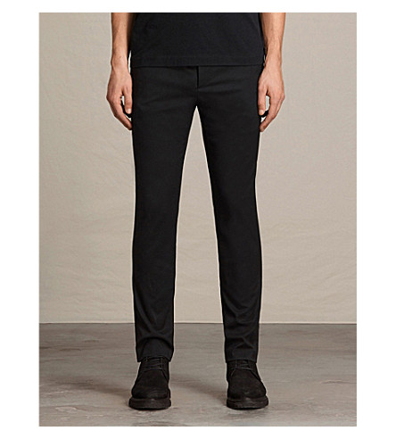 ALLSAINTS Gale slim-fit tapered stretch-wool trousers (Black