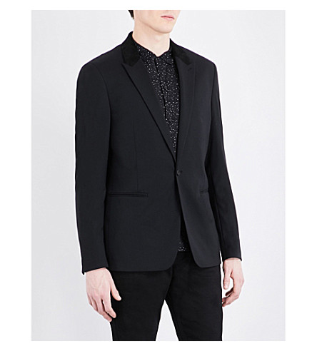 ALLSAINTS Mavis slim-fit cotton blazer (Black