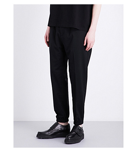 ALLSAINTS Adena regular-fit tapered stretch-wool pants (Black