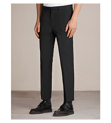 ALLSAINTS Kente woven trousers (Black