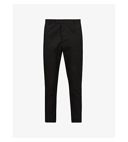 ALLSAINTS Kato contemporary-fit cropped cotton trousers (Black