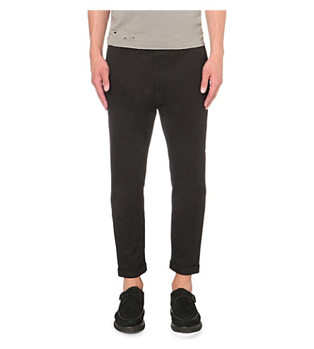 ALLSAINTS Carlow cotton chinos (Black