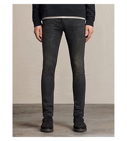 ALLSAINTS Print cigarette skinny jeans (Black